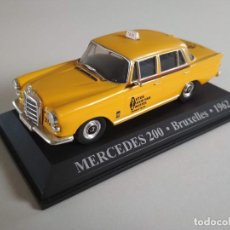 Coches a escala: MERCEDES 200. BRUXELLES / BRUSELAS 1962. TAXIS DEL MUNDO. ALTAYA 1:43. Lote 226270403
