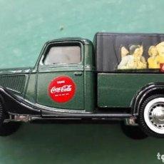 Coches a escala: CAMION COCA COLA FORD V8 1936 ESCALA 1/43 DE SOLIDO. Lote 226648100