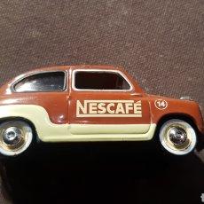 Coches a escala: SEAT 600 NESCAFE 1959. Lote 237406935