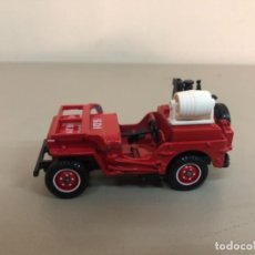Coches a escala: JEEP WILLYS DE BOMBEROS A ESCALA 1/43 N 1322 , SOLIDO MADE IN FRANCE. Lote 245021110