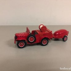 Coches a escala: COCHE A ESCALA 1/43 DODGE 4X4 DE BOMBEROS CON MOTO BOMBA,SOLIDO MADE IN FRANCE. Lote 245245580