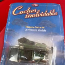 Coches a escala: COCHE INOLVIDABLES HISPANO SUIZA H6 DE SALVAT NÚMERO 50. Lote 287864478