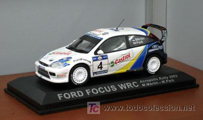 FORD FOCUS WRC DE M. MARTIN EN EL RALLY ACROPOLIS 2003 IXO - ALTAYA (Juguetes - Coches a Escala 1:43 Otras Marcas)