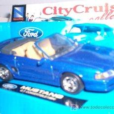 Coches a escala: FORD MUSTANG GT CABRIO 1989 DE NEW RAY ESC. 1,43 DE METAL BONITO. Lote 27261837