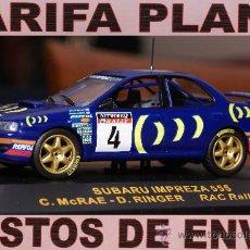 Coches a escala: SUBARU IMPREZA 555 RAC RALLY 1995 C.MCRAE ESCALA 1:43 DE RALLY CAR EN CAJA. Lote 27189166
