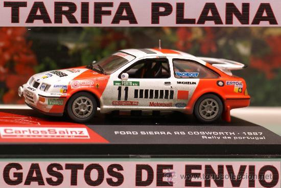 FORD SIERRA RS COSWORTH 1987 RALLY DE PORTUGAL SAINZ ESCALA 1:43 DE ALTAYA EN SU CAJA (Juguetes - Coches a Escala 1:43 Otras Marcas)