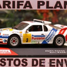 Coches a escala: FORD RS200 1987 RALLY RACE MADRID C.SAINZ ESCALA 1:43 DE ALTAYA EN SU CAJA. Lote 26181069