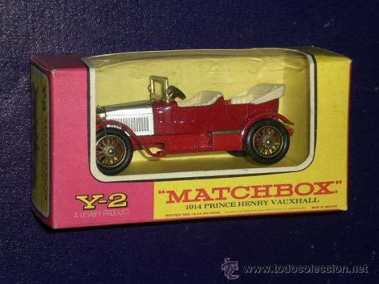 MATCHBOX. Y2: 1914 PRINCE HENRY VAUXHALL (Juguetes - Coches a Escala 1:43 Otras Marcas)