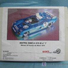 Coches a escala: (LM) MAQUETA 24 H DE LE MANS- MATRA SIMCA 670 B Nº7--AÑO 1974. Lote 18552516