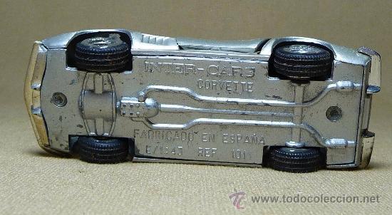 Coches a escala: AUTOMOVIL METALICO, CORVETTE, ESCALA 1/43, INTER CARS, ESPAÑA - Foto 6 - 21510660
