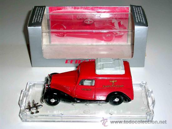 Coches a escala: Mercedes 170 Van Reichspost, fabricado en metal, 1/43, Vitesse 1ª época, original años 80. Con caja. - Foto 2 - 23310235