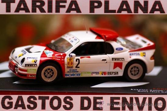 FORD RS200 RALLY ISLAS CANARIAS 1986 ANTONIO ZANINI - JOSEP AUTET ESCALA 1:43 DE ALTAYA EN SU CAJA (Juguetes - Coches a Escala 1:43 Otras Marcas)