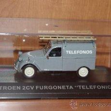 Coches a escala - CITROEN 2CV FURGONETA (TELEFONICA) IXO ALTAYA, 1/43, NUEVO. - 22599188