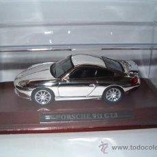 Coches a escala: PORSCHE 911 GT3. JOYAS DEL AUTOMÓVIL EN PLATA. NUEVA EDICIÓN. ALTAYA IXO. . Lote 27274325