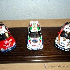 Coches a escala: WRC CITROEN XSARA, FORD FOCUS, TOYOTA COROLLA , CARLOS SAINZ, M. MARTÍ Y LUIS MOYA.. Lote 26587130