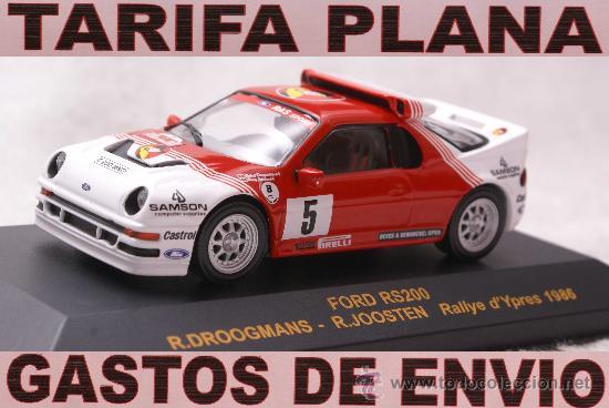 FORD RS200 RALLYE D´YPRES 1986 R.DROOGMANS - R.JOOSTEN ESCALA 1:43 DE RALLY CAR EN SU CAJA (Juguetes - Coches a Escala 1:43 Otras Marcas)