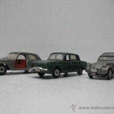 Coches a escala: PRECIOSO LOTE DE 3 COCHES RARISIMOS NACORAL CHIQUI CARS ESPAÑA. Lote 27781503