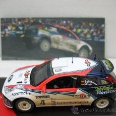Coches a escala: CARLOS SAINZ -FORD FOCUS WRC-AÑO 2002 -RAC RALLY -ESCALA 1/43. Lote 28731274