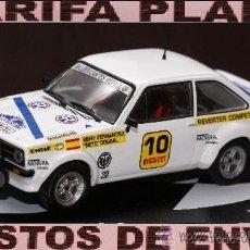Coches a escala: FORD ESCORT RS 1800 RALLY COSTA BRAVA 1977 BENY FERNANDEZ - ANTONIO DOURAL ESCALA 1:43 DE ALTAYA EN. Lote 30713303