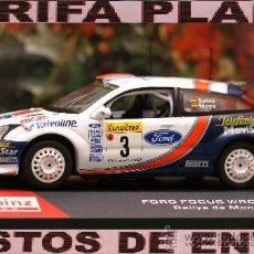 Coches a escala: FORD FOCUS WRC 2001 RALLYE DE MONTECARLO SAINZ ESCALA 1:43 DE ALTAYA EN SU CAJA. Lote 31892906