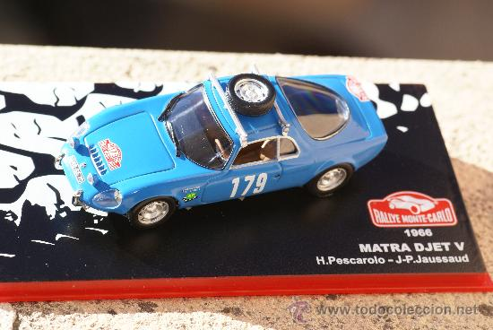 RIT10M 1//43 IXO Altaya Rallye  MATRA DJET V JAUSSAUD//Pescarolo Monte carlo 1966