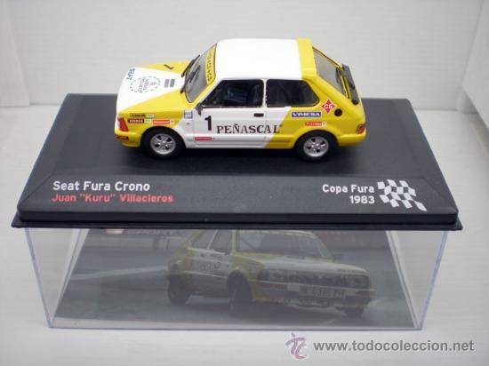COCHE SEAT FURA CRONO 1:43 IXO MODEL CAR RALLY FIAT KURU VILLACIEROS 1983 (Juguetes - Coches a Escala 1:43 Otras Marcas)