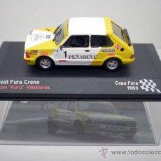 Coches a escala: COCHE SEAT FURA CRONO 1:43 IXO MODEL CAR RALLY FIAT KURU VILLACIEROS 1983. Lote 195317538