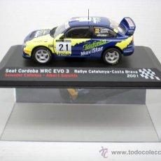 Coches a escala: COCHE SEAT CORDOBA WRC EVO 3 1:43 IXO MODEL CAR RALLY FIAT COSTA BRAVA 2001. Lote 182673472