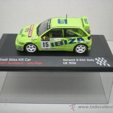 Coches a escala: COCHE SEAT IBIZA KIT CAR 1:43 IXO MODEL CAR RALLY FIAT ROVANPERA REPO UK 1996. Lote 194332237