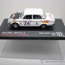 Coches a escala: COCHE SEAT 1430 1800 GR.4 1:43 IXO MODEL CAR RALLY FIAT SERVIA SABATER 1977. Lote 176769529