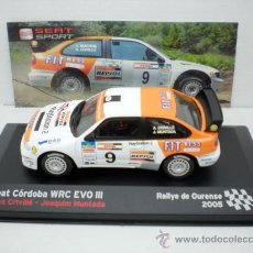 Auto in scala: COCHE SEAT CORDOBA WRC EVO III 1:43 IXO SPORT RALLYE DE OURENSE ORENSE RALLY 05. Lote 199478513