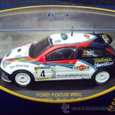 Coches a escala: WRC 1:43, FORD FOCUS WRC, CARLOS SAINZ - MARTI, RALLY DE CATALUNYA 2002. Lote 36600039