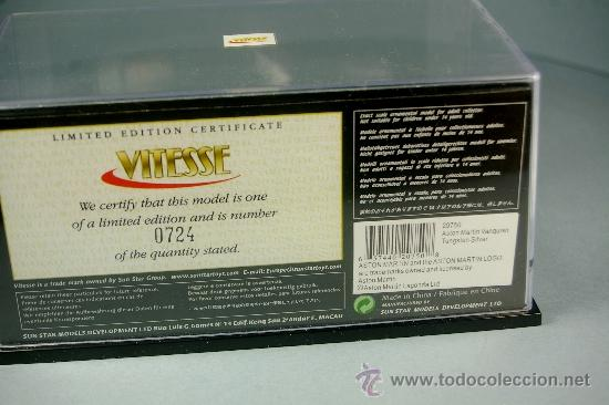 Coches a escala: ASTON MARTIN VANQUISH - Serie Limitada VITESSE - Esc 1/43 - Nuevo en Caja - Foto 4 - 38111805