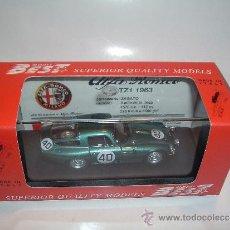 Coches a escala: ALFA ROMEO TZ1 1963, CARROCERIA ZAGATO, DE BEST, REF. 9068.. Lote 38485884