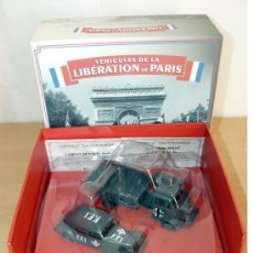 Coches a escala: PACK VEHICULES LIBERATION PARIS WWII CAMION RENAULT AHN + CITROEN TRACTION 11AL. Lote 195255183