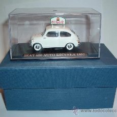 Coches a escala: SEAT 600 AUTO ESCUELA SAN MARCIAL , 1957, 1/43.. Lote 39025497