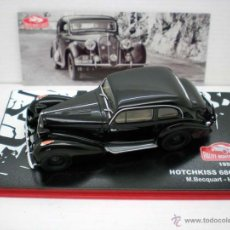 Coches a escala: COCHE HOTCHKISS 686 CGS 1950 RALLY MONTECARLO BECQUART SECRET IXO CAR. Lote 195145066