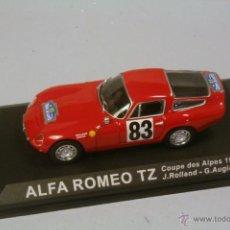 Coches a escala: IXO ALTAYA.ALFA ROMEO TZ #83 COUPE DES ALPES 1964 ROLLAND-AUGIAS . NUEVO EN PEANA SIN BLISTER. Lote 40396260