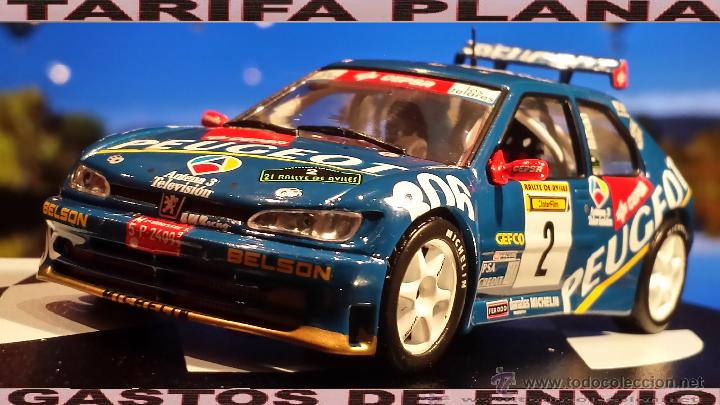 PEUGEOT 306 MAXI RALLYE DE AVILES 1997 JAIME AZCONA - JULIUS BILLMAIER ESCALA 1:43 DE ALTAYA EN SU (Juguetes - Coches a Escala 1:43 Otras Marcas)