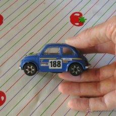 Coches a escala: BURAGO- COCHE FIAT 500 # 188 BARONE ROMA LOGO BOSCH / MOTUL / FERODO / KONI / VACCARI - ESCALA 1/43. Lote 42373929