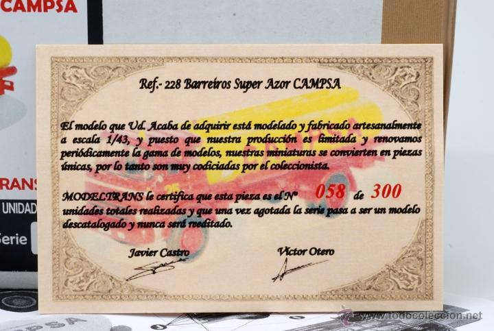 Coches a escala: Camión Barreiros Super Azor Campsa Modeltrans Ref 228 Edición limitada nº 58/300 1/43 - Foto 2 - 42956583