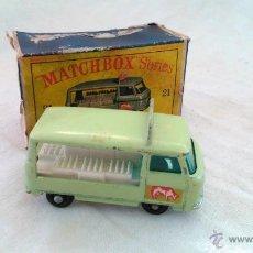 Coches a escala: COCHE MATCHBOX LESNEY SERIES AÑOS 60 Nº 21 MILK DELIVERY TRUCK CAMION REPARTO LECHE METALICO. Lote 43122455