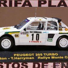 Coches a escala: PEUGEOT 205 TURBO 16 RALLYE DE MONTECARLO 1986 M.MOUTON - T.HARRYMAN ESCALA 1:43 DE RALLY CAR EN SU. Lote 43483605