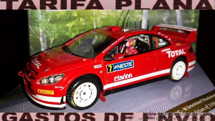 PEUGEOT 307 WRC RALLYE DE FINLANDIA 2005 M.GRONHOLM -T.RAUTIAINEN ESCALA 1:43 DE VITESSE EN CAJA (Juguetes - Coches a Escala 1:43 Otras Marcas)