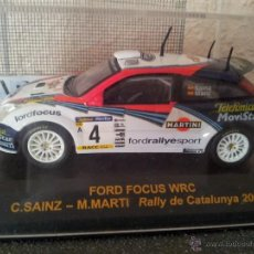 Coches a escala: FORD FOCUS WRC RALLY CATALUNYA 2002, C.SAINZ, 1:43, METAL, NUEVO. Lote 45452753