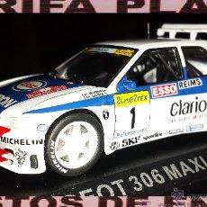 Coches a escala: PEUGEOT 306 MAXI RALLYE TOUR DE MONTECARLO 1996 FRANCOIS DELECOUR - C.SAUVAGE ESCALA 1:43 ALTAYA E. Lote 45756545