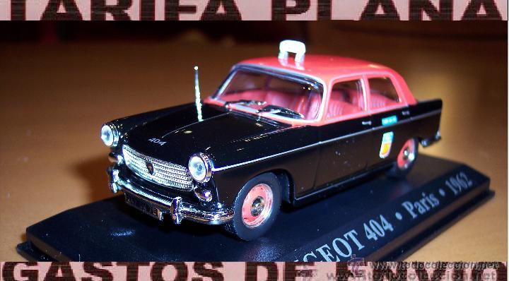 PEUGEOT 404 TAXI DE PARIS 1962 ESCALA 1:43 DE ALTAYA EN CAJA (Juguetes - Coches a Escala 1:43 Otras Marcas)
