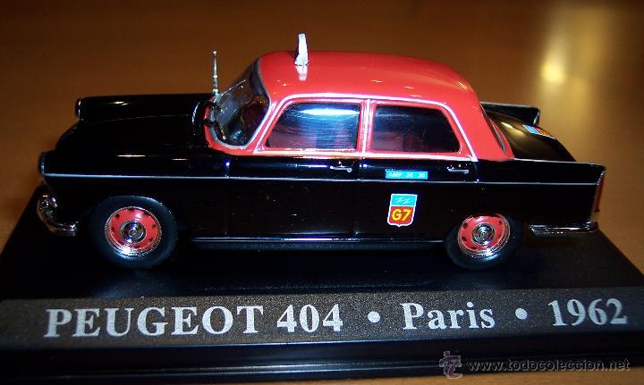 Coches a escala: PEUGEOT 404 TAXI DE PARIS 1962 ESCALA 1:43 DE ALTAYA EN CAJA - Foto 2 - 45821252