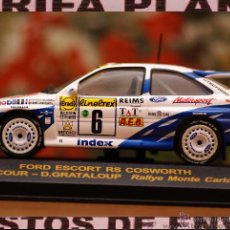 Coches a escala: FORD ESCORT RS COSWORTH RALLYE DE MONTECARLO 1994 F.DELECOUR - D.GRATALOUP ESCALA 1:43 DE RALLY CAR. Lote 45952603