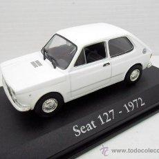 Coches a escala: COCHE SEAT 127 1972 BLANCO RBA ESCALA 1/43 1:43 FIAT METAL MODEL CAR MINIATURA ALFREEDOM. Lote 177649912